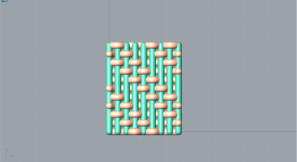 Weaving output in Rhino, Top View